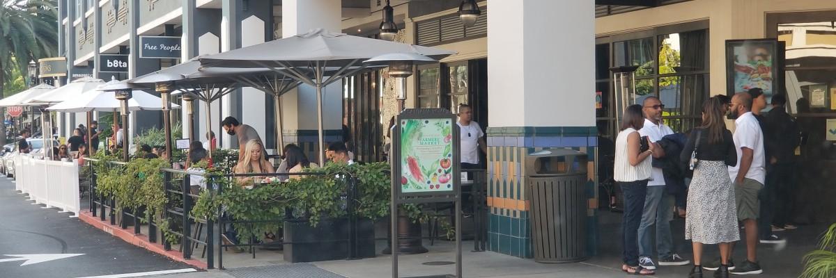 야외 식당